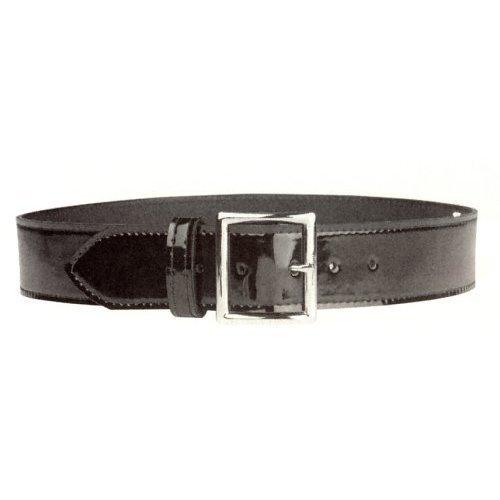 "HWC Hi High Gloss Police Garrison Leather Duty Belt 1-3/4"" Nickel Buckle"