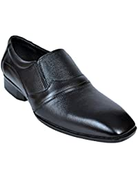 Royal Handmade Genuine Leather Formal Shoe By Slip On Shoe | Black Formal | Stylish Shoe | Office Black Shoe |...