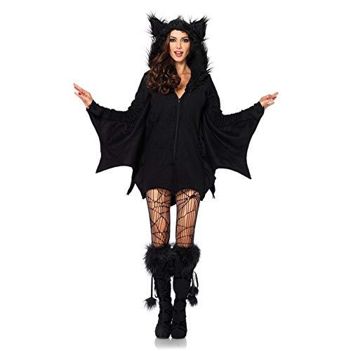 Cosplay bat costume del partito di halloween con cappuccio per ragazze adolescenti adulti,s