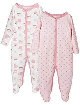 FUTURE FOUNDER Baby-Mädchen Schlafstrampler, 2er Pack