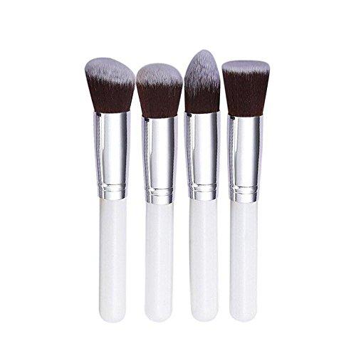 Maquillage Brosse, Kingwo Blanc Synthétique Kabuki Flat 4 pcs Brosse