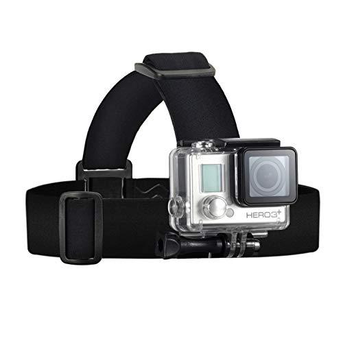 Wealpe Kopfband Kopfhalterung Kompatibel mit GoPro Hero 7, Fusion, Hero (2018), 6, 5, 4, Session, 3+, 3, 2, 1, Xiaomi Yi Kameras