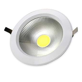 V-TAC 1108 VT-2620 Spot LED encastrable rond, lumière chaude 3000 K, réflecteur 120°, diamètre extérieur 135 mm, diamètre encastrable 160 mm, IP20, corps blanc 230 V 18 W