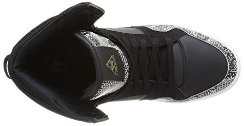 Le Coq Sportif Renaissance Mid W Snake, Baskets mode femme Noir (Black)