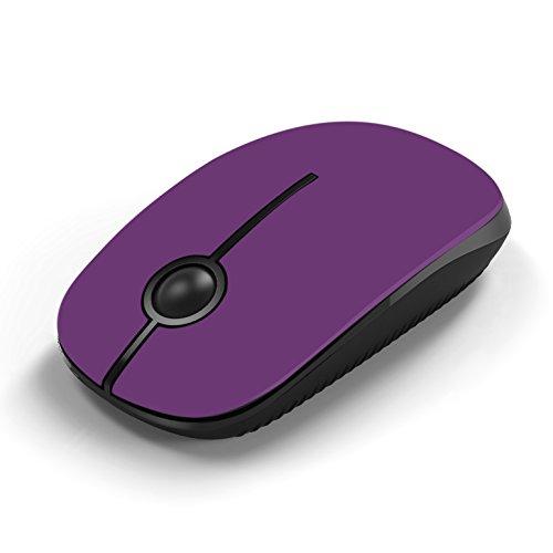 Jelly Comb Ratón inalámbrico de 2,4 GHz con receptor nano para el ordenador portátil / Macbook / tableta, preciso y silencioso (púrpura)