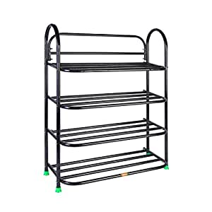 PATEL RAJ Metal Book Stand (Bsp Black,4 Shelves)