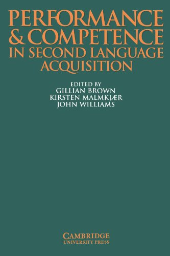 Performance and Competence in Second Language Acquisition (Applied Linguistics Non)