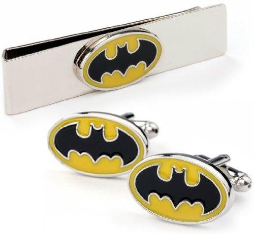 Batman Verkauf Für Kostüm Beste (Schwarz/Gelbe Batman Manschettenknöpfe inklusive Batman)