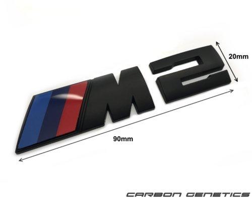 Carbon Genetics Matt Schwarz Kofferraumhaube Trunk Abzeichen Emblem Aufkleben für M2 F87