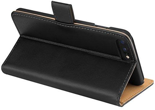 mumbi Tasche im Bookstyle für iPhone 8 Plus / 7 Plus Tasche schwarz