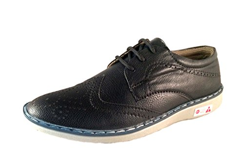 Deal Especial - Zapatos de cordones de Piel Vuelta para hombre negro negro, color negro, talla 41.5