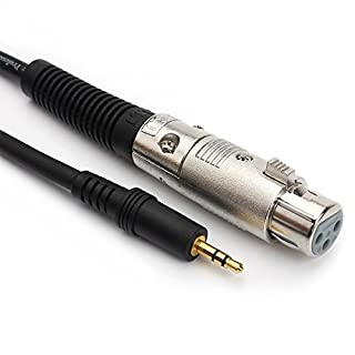 3,5mm TRS Stecker auf 3-polig XLR Female Professional Low Noise Mikrofonkabel 1m (3.28ft)