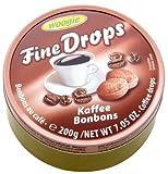 Woogie Kaffee-Bonbons 'Fine Drops' in der wiederverschließbaren 200g Dose