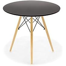 CITY HOME Mesa de Comedor/Cocina Inspirada en el diseño Tower Eames - Negra -