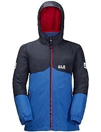 Jack Wolfskin B ICELAND 3IN1 JKT, wasser- und winddichte Outdoor Jacke, Winterjacke für Jungen mit warmer Fleece-Innenjacke, robuste Regenjacke für Jungen mit Reflektoren