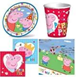 Peppa Pig Party Time Party Tableware Pack for 8