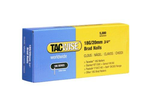 Tacwise 0395 Stiftnägel 18G/20mm Verzinkt (5.000 Stück)
