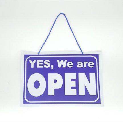 Harry Potter Kleiderschrank (Stylische Schilder zum Aufhängen Open/Closed,–weiß & blau von GN Unternehmen)