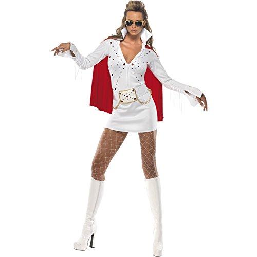 Kostüm Elvis Viva Las Vegas White Women (Elvis Kostüm Las Vegas)