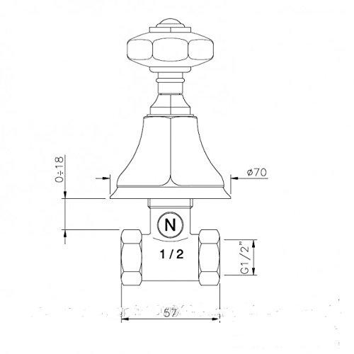 Nicolazzi Teide Mixers stop cock 1912_CR_15C