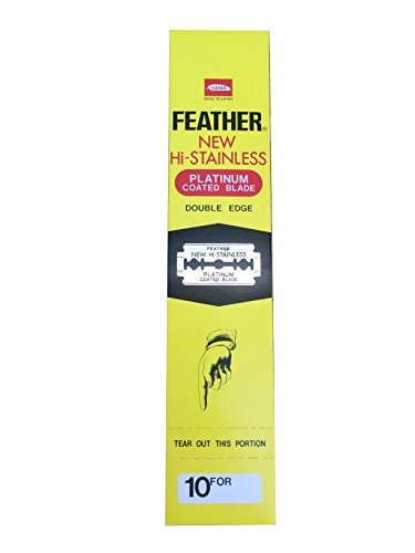 200 Feather New Hi-Stainless Rasierklingen (Razor Feather 10 Blades)