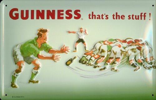 Blechschild Guinness Rugby Bier Beer Schild Nostalgieschild retro Werbung (Rugby-bier Guinness)