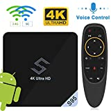 Android 8.1 TV Box, VIDEN S95 Smart TV Box Amlogic S905X2 Quad Core, 2GB RAM & 16GB ROM, Wi-Fi-Dual 2.4G/5G, 4K*2K UHD H.265, USB 3.0, WiFi Media Player, Android Set-Top Box con Voice Remote Control