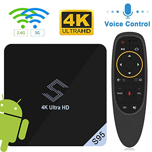 Android 8.1 TV Box, VIDEN S95 Smart TV Box Amlogic S905X2 Quad Core Prozeßor, 2G RAM & 16G ROM, 4K Ultra HD H.265, 2.4Ghz/5 Ghz WiFi Bluetooth 4.0, WiFi Media Player mit Voice Fernbedienung