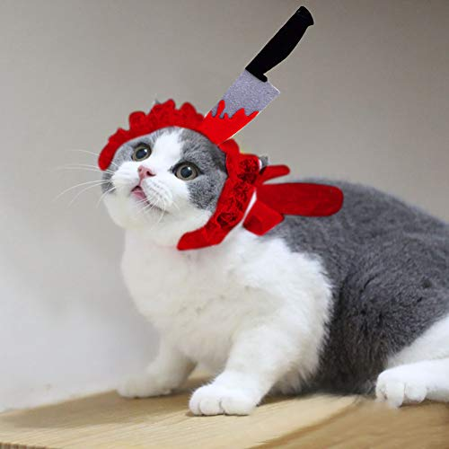 Gychee - Sombrero para Mascotas, Disfraz de Halloween, decoración, Creativo, Divertido, decoración para el Cabello, decoración para Mascotas, Fiesta, complemento