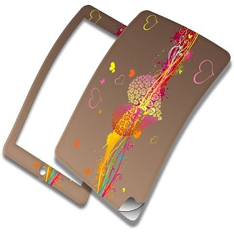 Cuore, Skin Autoadesivo Sticker Adesivi Pelle Cover Decal Set con Disegno Strutturato con Apple iPad Mini