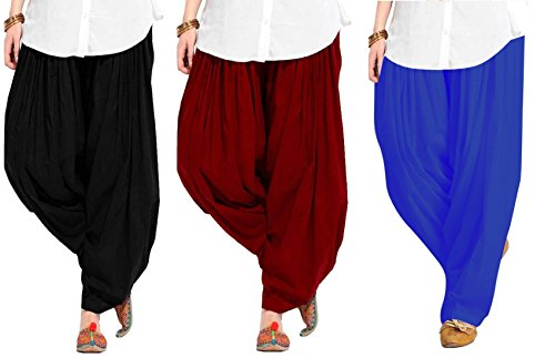 Spangel Fashion Women's Pure Cotton Full Stitched Ready made Patiala Bottom Salwar...