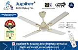 Jupiter Quadcopter 5 Star Energy Saver Ceiling Fan with Remote Controlled Royal Ivory Deco 4 Blades BLDC Motor 1200 mm
