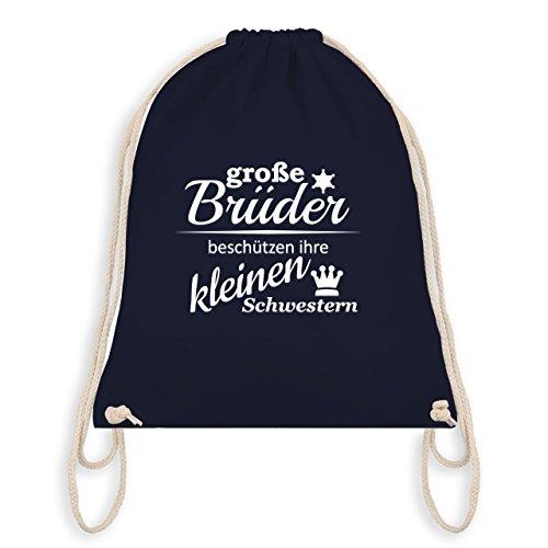 Geschwisterliebe Kind – Große Brüder – Unisize – Navy Blau – WM110 – Turnbeutel & Gym Bag