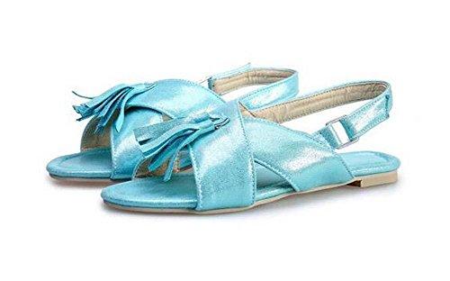 Beauqueen Sandales Femmes D'été Tassel Plain Imitation Cuir Femmes Occasionnels Chaussures Spécial Grande Taille Europe 32-48 Gold