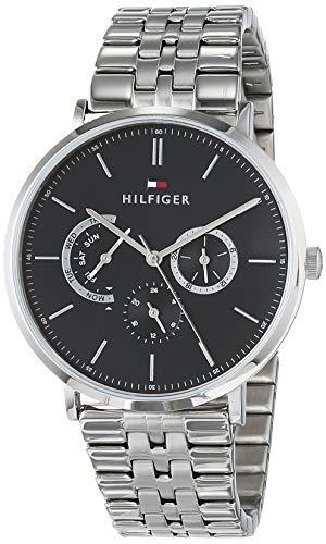 Tommy Hilfiger Herren Multi Zifferblatt Quarz Uhr mit Edelstahl Armband 1710373