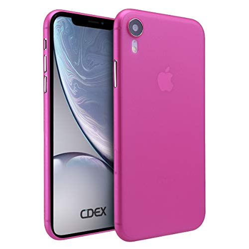 doupi UltraSlim Hülle für iPhone Xr (iPhone 10r) 6,1 Zoll, Ultra Dünn Fein Matt Handyhülle Cover Bumper Schutz Schale Hard Case Taschenschutz Design Schutzhülle, pink