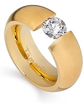 Tamaris Ring Scarlet 100397 Edelstahl Zirkonia gold