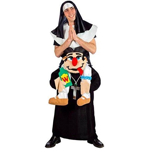 Lustiges Nonnen und Pfarrer Kostüm für Erwachsene (Monja Kostüm)