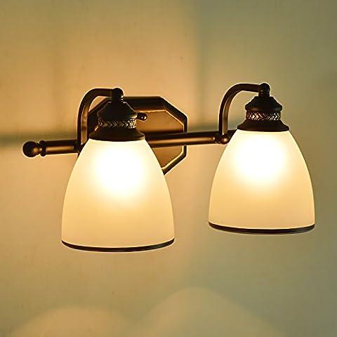 TYDXSD Rural européen minimaliste rétro miroir utilisez des lumières lampe