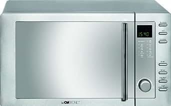 Clatronic MWG 775 H/ Mikrowelle mit Grill und Heißluft / 23 Liter / Edelstahlgehäuse