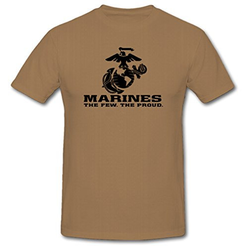 USMC Marines The Few The Proud Corp Corps - T Shirt #701, Größe:M, Farbe:Sand -