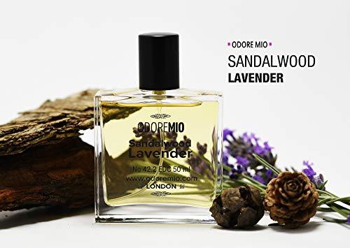 Odore Mio Sandalwood Lavender Cologne EDC 15 ml Natural Perfume Spray - Sandalwood Edc Spray