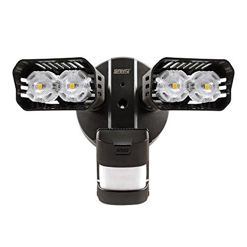 Sansi LED Strahler mit Bewegungsmelder Außen Wasserdicht IP65 Flutlicht mit PIR Sensor Aussen Aussenleuchte Bewegungssensor Weiss 1800 Lumen Hell LED 20W für Garten,Garage,Hofleuchte