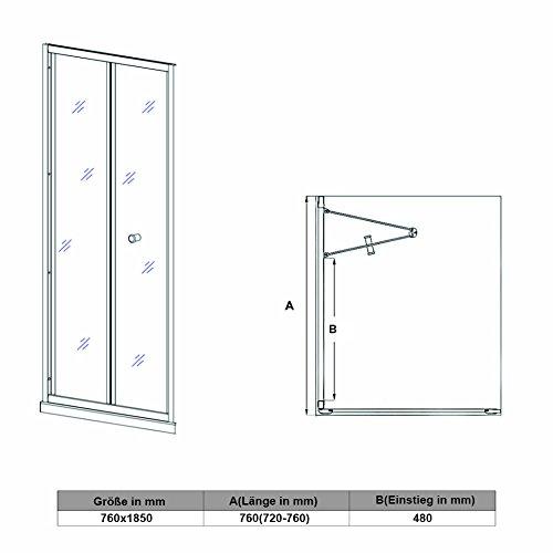 Falttür mit Rahmen - 4
