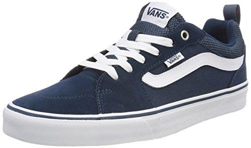 Vans Herren Filmore VA3MTJQ36 Sneaker, Blau (Suede/Canvas), 43 EU (Blue Vans Suede)