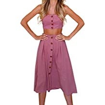 ... flamenco precios vestido ... ❤ Conjunto de Falda para Mujer, Dos piezas Conjunto de falda para arriba con