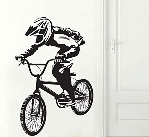 Lkfqjd Bmx Bike Bicycle Biker Ragazzi Decalcomania Della Parete Art Decor Sticker Vinile Murale Plus Size Wall Stickers Camera Da Letto Casa Decalcomania Da Parati 59 * 90Cm