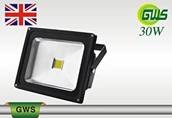 G.W.S LED SMD Floodlight with 2 years warranty - 30W - Day White - Sliver Grey