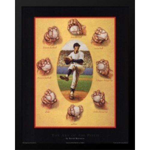 Buyartforless Poster mit Rahmen, Motiv The Art of The Pitch, von David Morocco, 56 x 28 cm