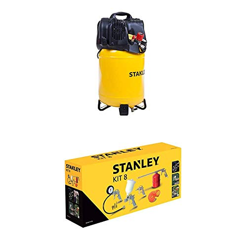 STANLEY Compressor D200/10/24V + Airtoolkit 8 pieces